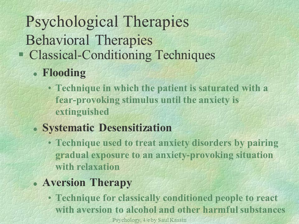 Psychological Therapies Behavioral Therapies