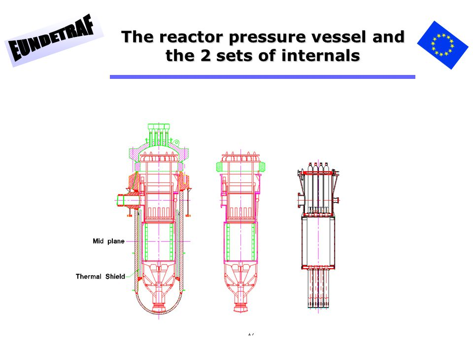 The reactor pressure vessel and the 2 sets of internals