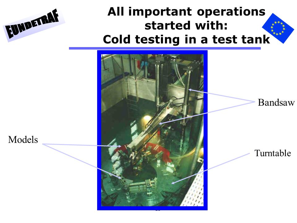 All important operations started with: Cold testing in a test tank