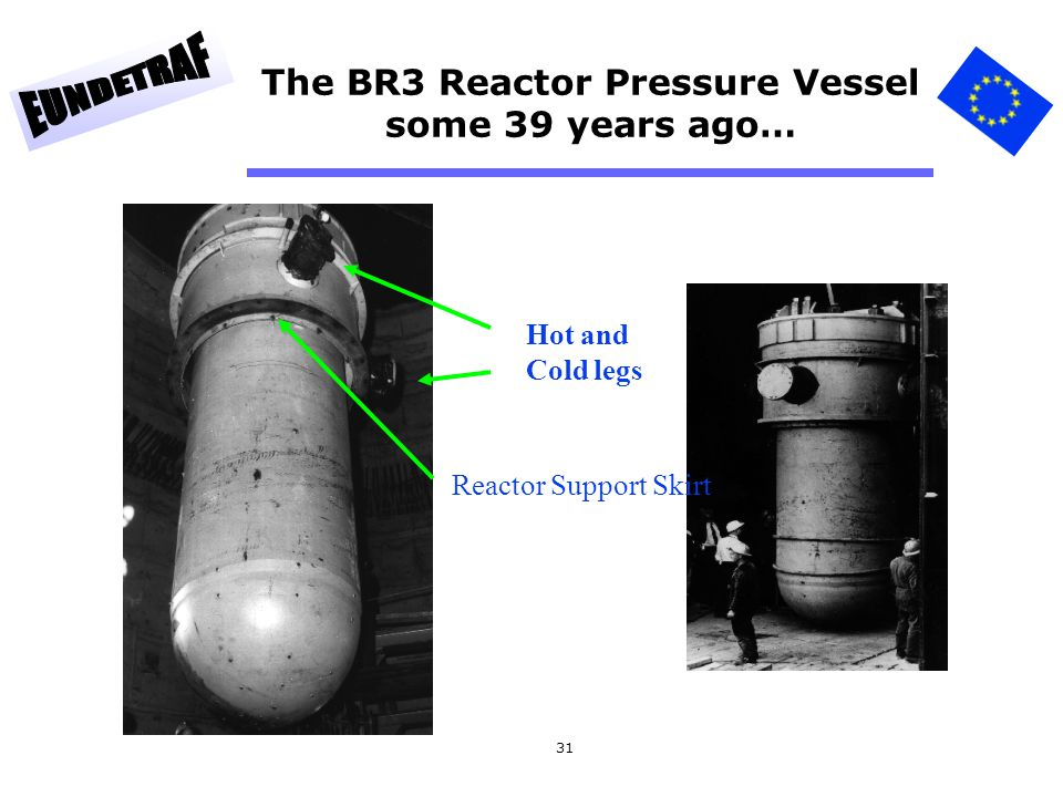 The BR3 Reactor Pressure Vessel some 39 years ago…