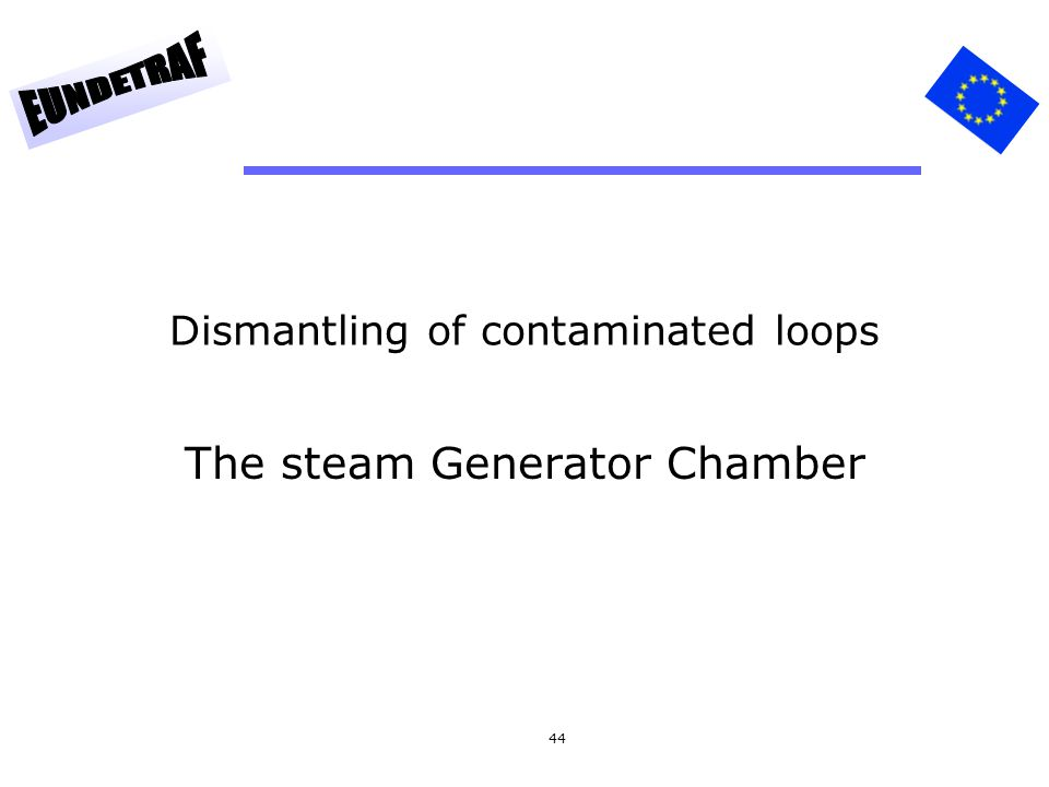 Dismantling of contaminated loops
