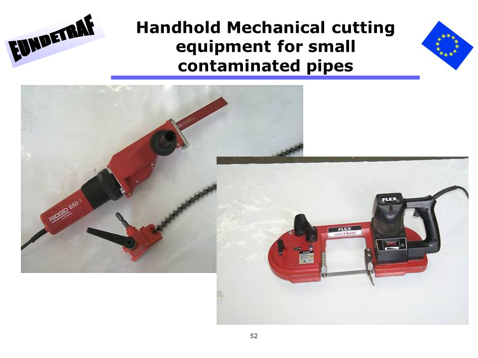 Handhold Mechanical cutting equipment for small contaminated pipes