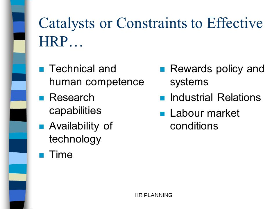 Catalysts or Constraints to Effective HRP…
