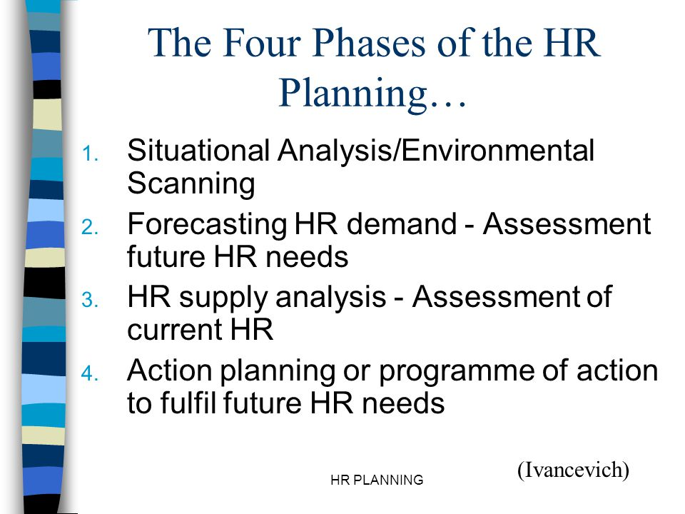 The Four Phases of the HR Planning…