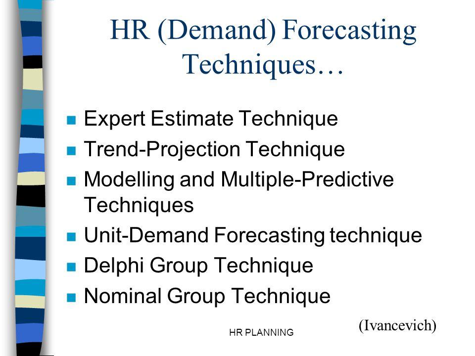 HR (Demand) Forecasting Techniques…