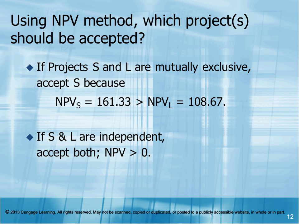 Using NPV method, which project(s) should be accepted