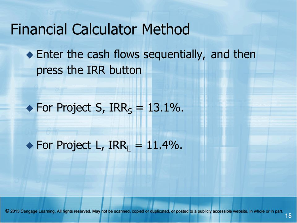 Financial Calculator Method