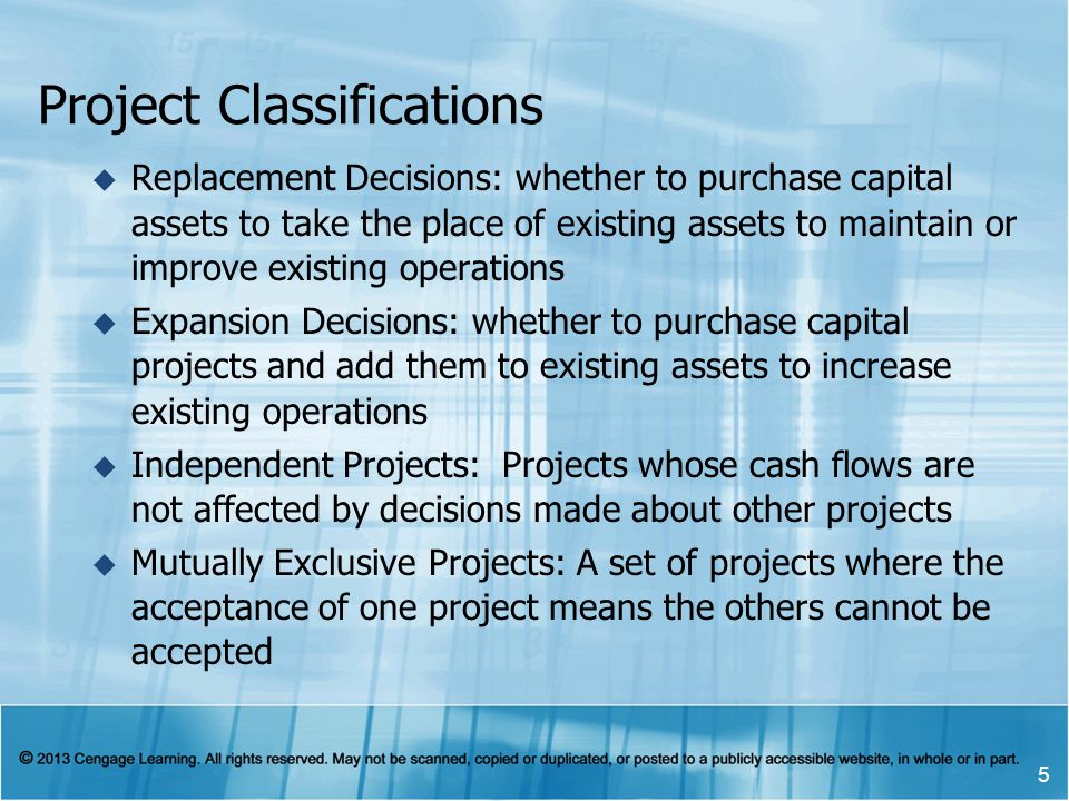 Project Classifications