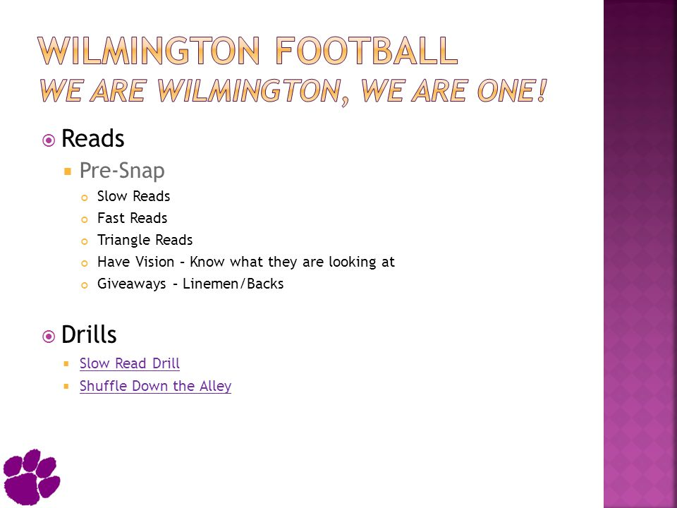 Wilmington Football We Are Wilmington, We Are One!