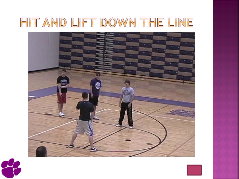 Hit and lift down the line