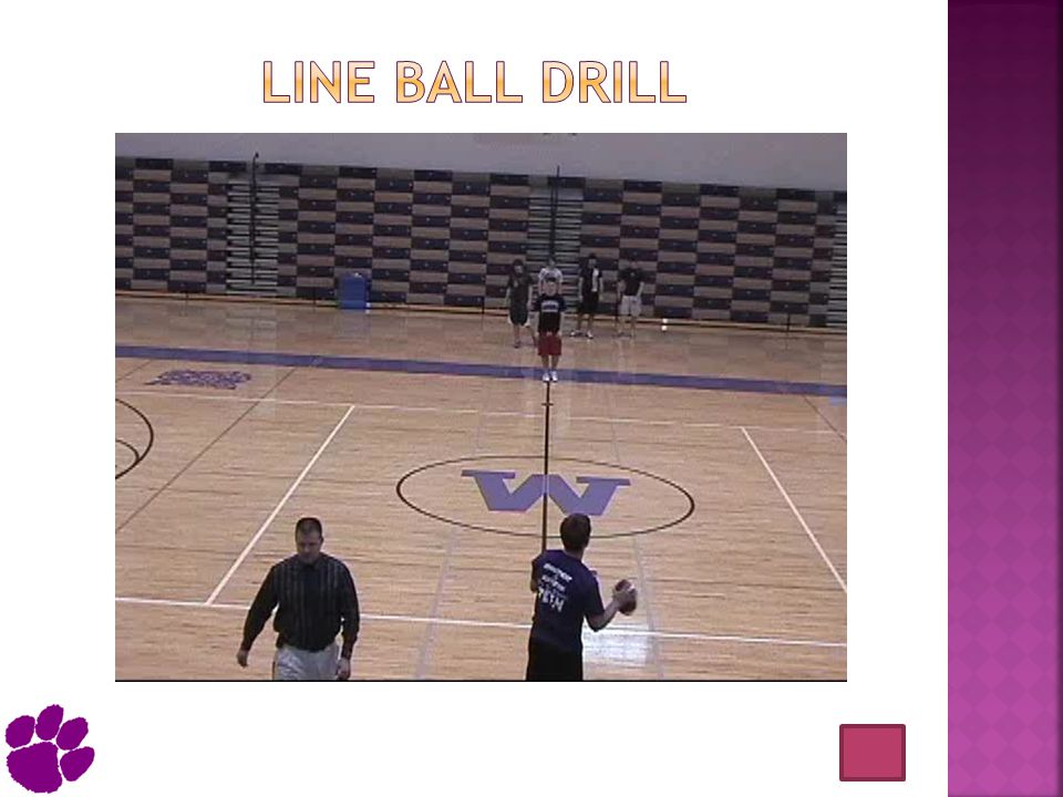 Line ball drill