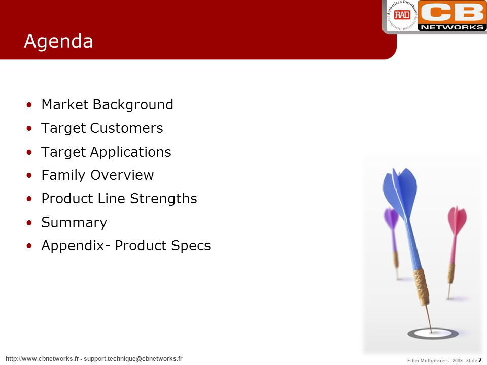 Agenda Market Background Target Customers Target Applications