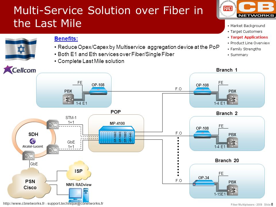Multi-Service Solution over Fiber in the Last Mile