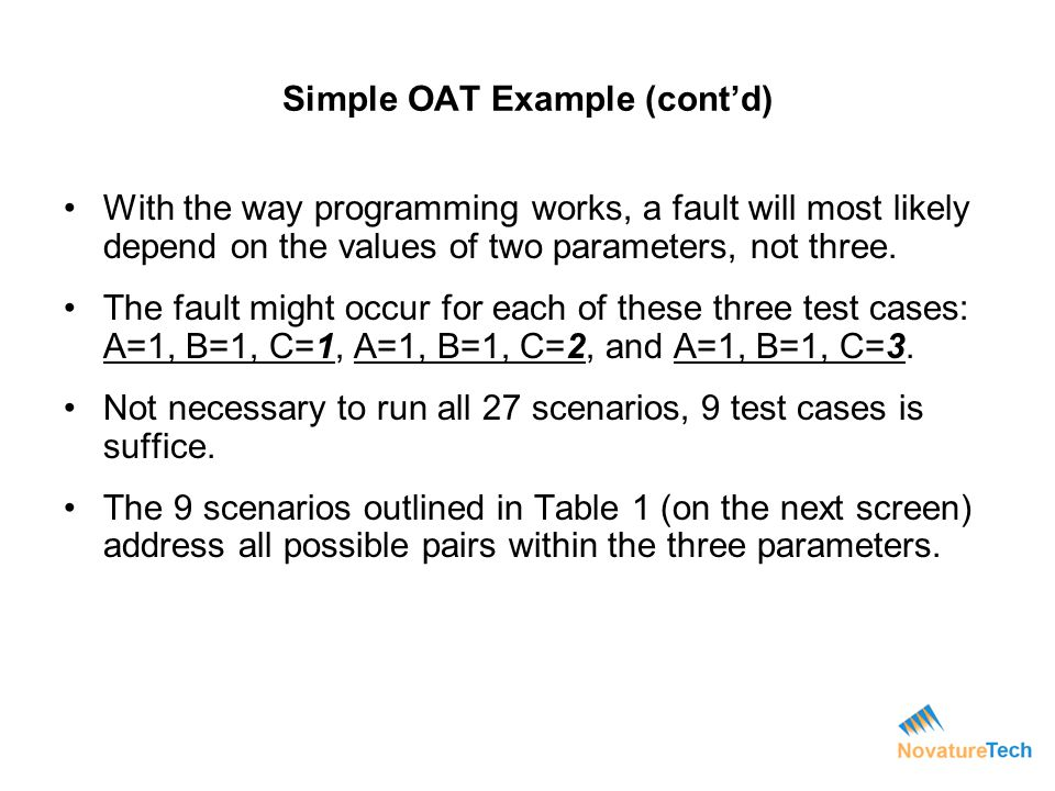 Simple OAT Example (cont'd)