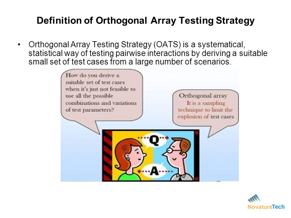 Definition of Orthogonal Array Testing Strategy