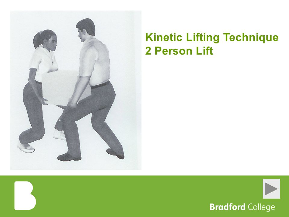 Kinetic Lifting Technique 2 Person Lift