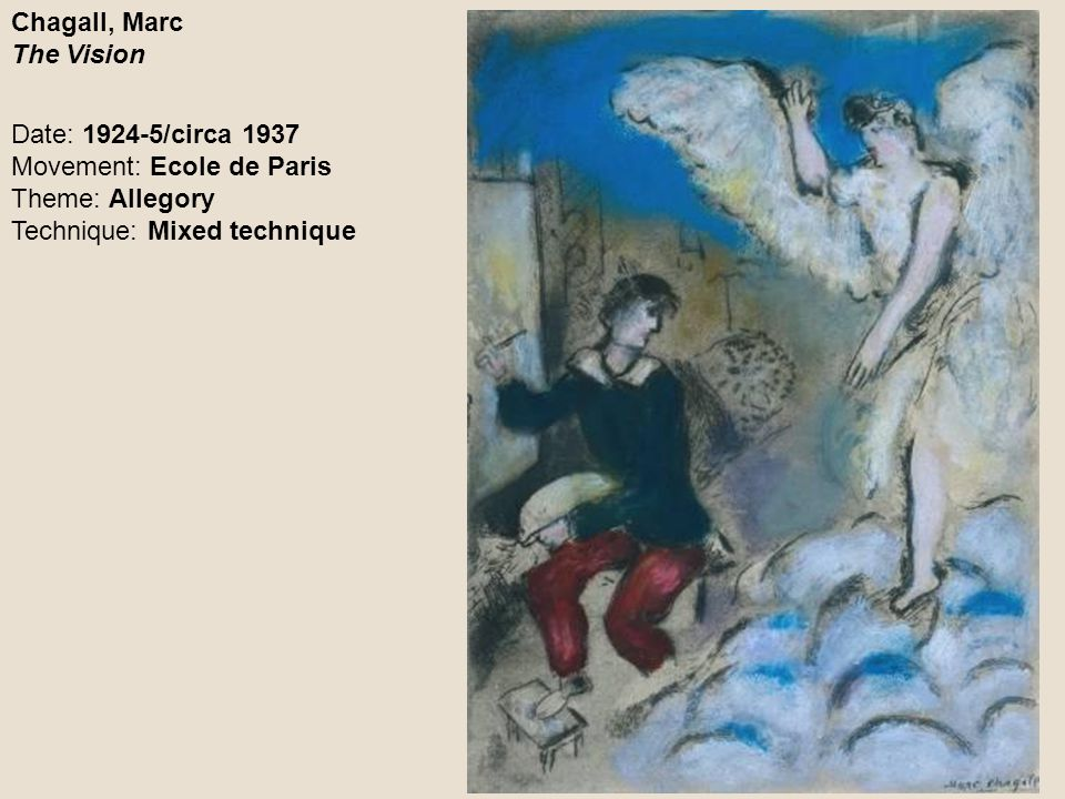 Chagall, Marc The Vision
