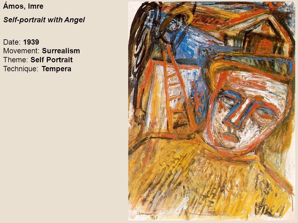 Ámos, Imre Self-portrait with Angel.