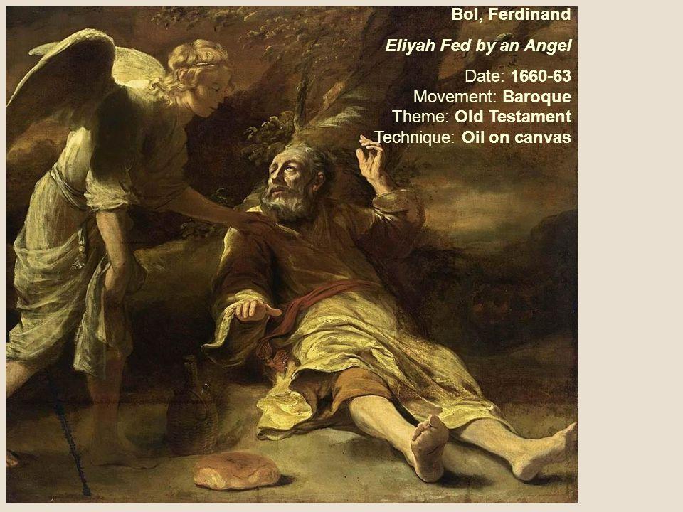 Bol, Ferdinand Eliyah Fed by an Angel.