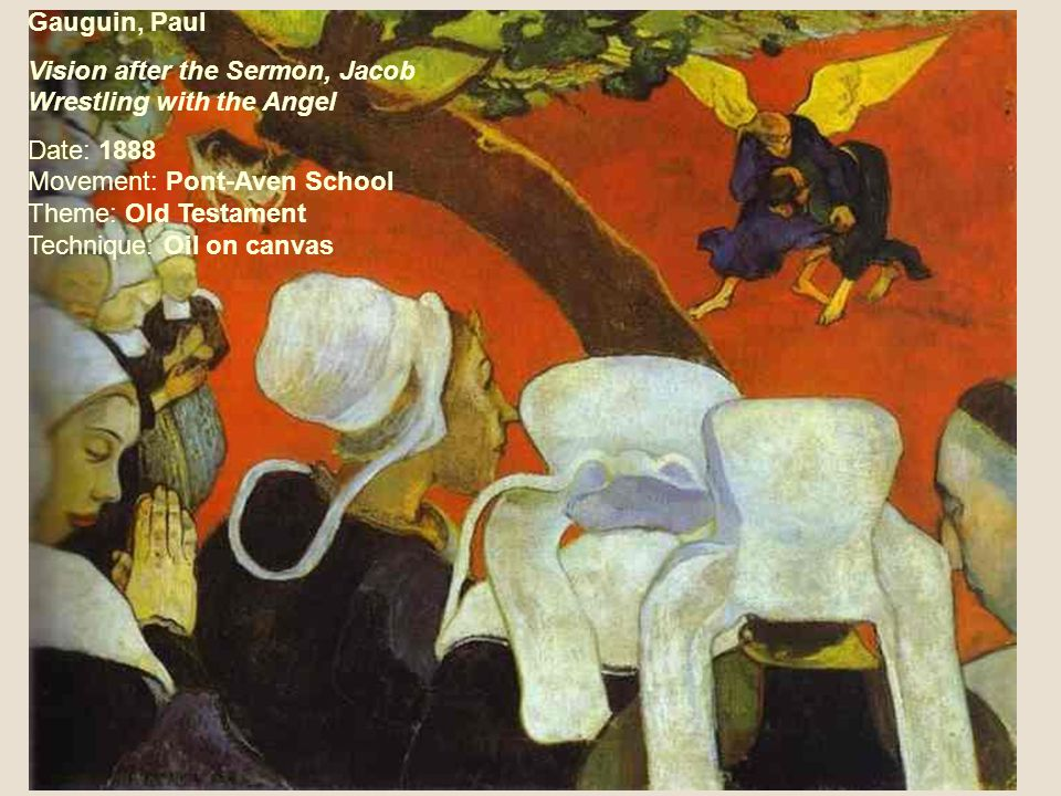 Gauguin, Paul Vision after the Sermon, Jacob Wrestling with the Angel.
