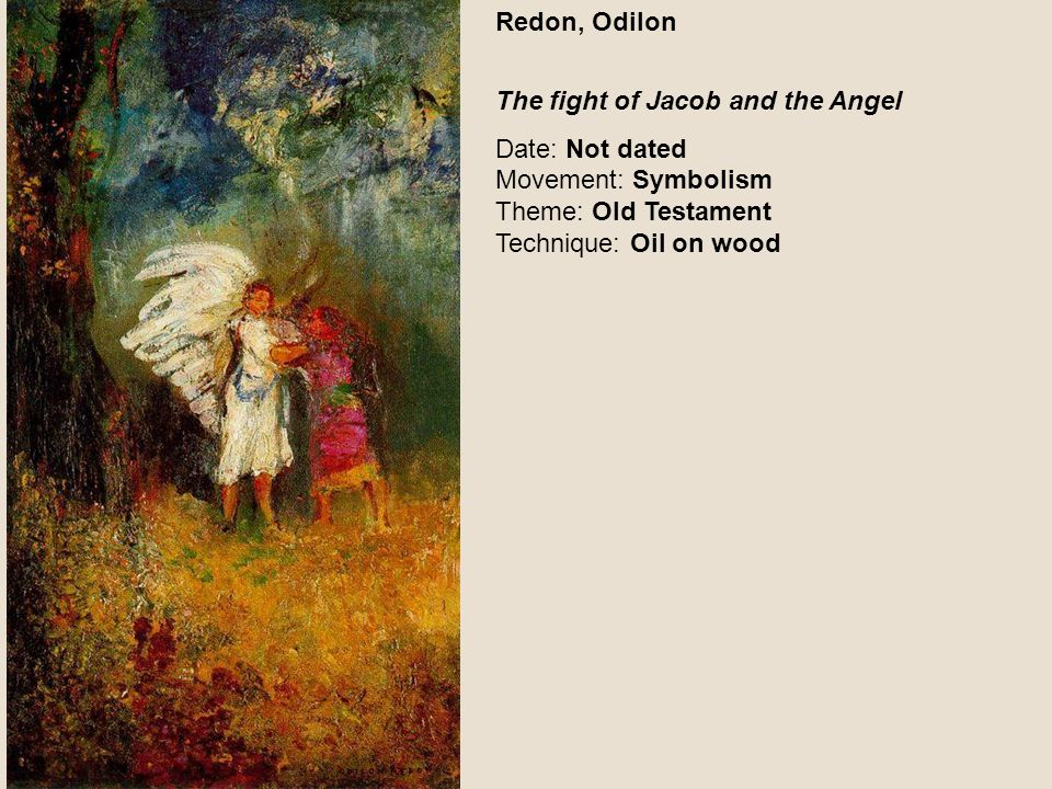 Redon, Odilon The fight of Jacob and the Angel.