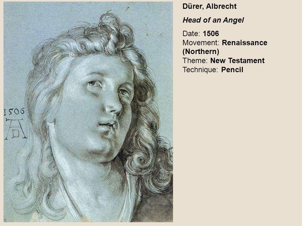 Dürer, Albrecht Head of an Angel.
