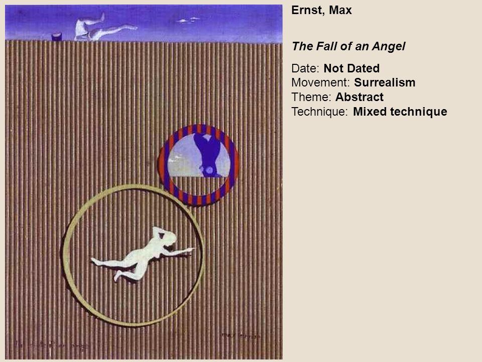 Ernst, Max The Fall of an Angel.