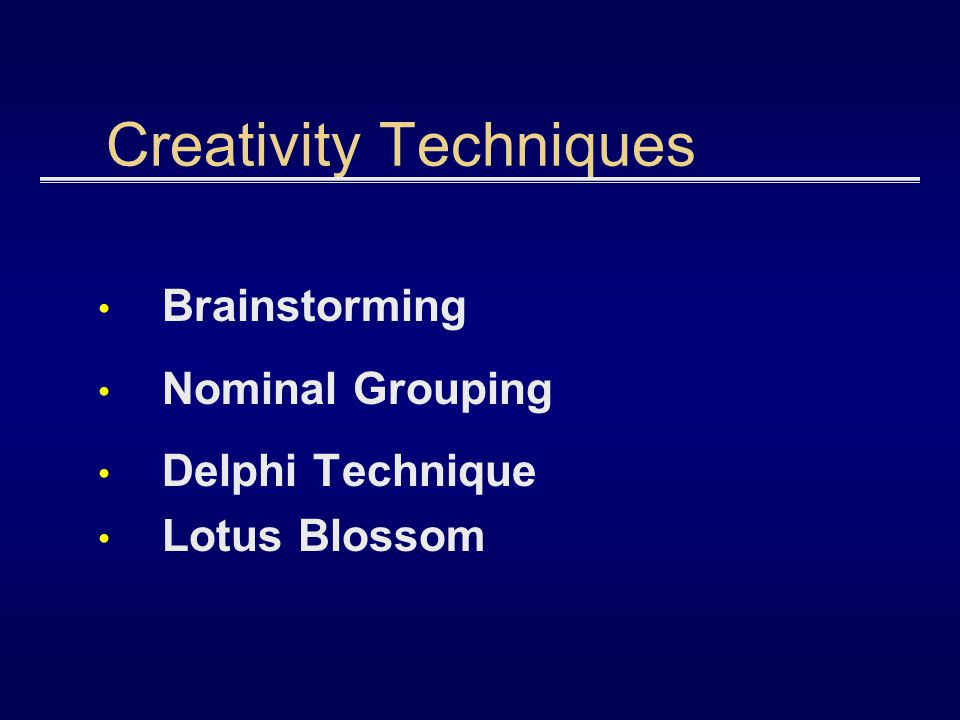Creativity Techniques