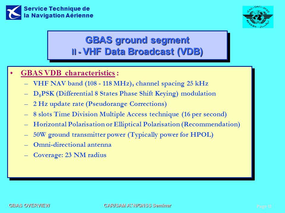 GBAS ground segment II - VHF Data Broadcast (VDB)