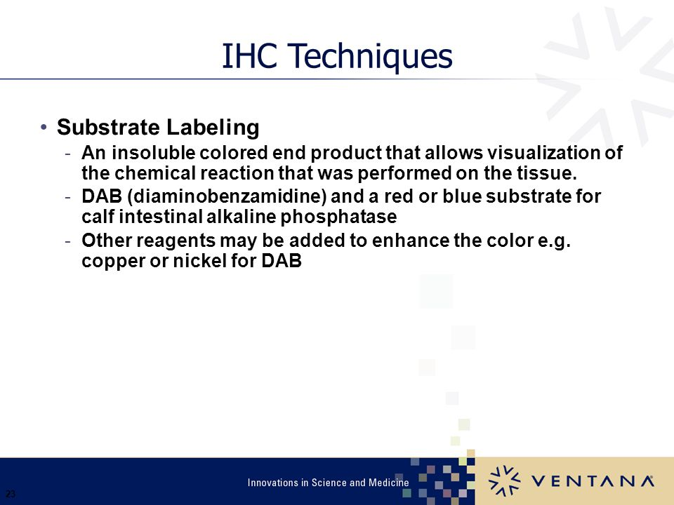 IHC Techniques Substrate Labeling