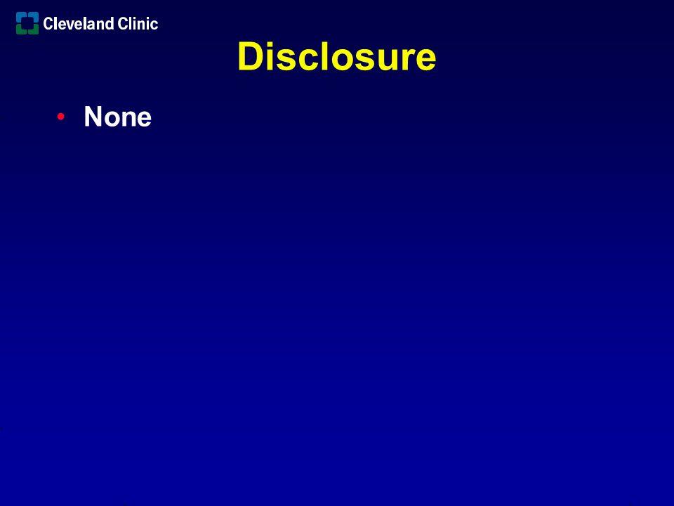 Disclosure None