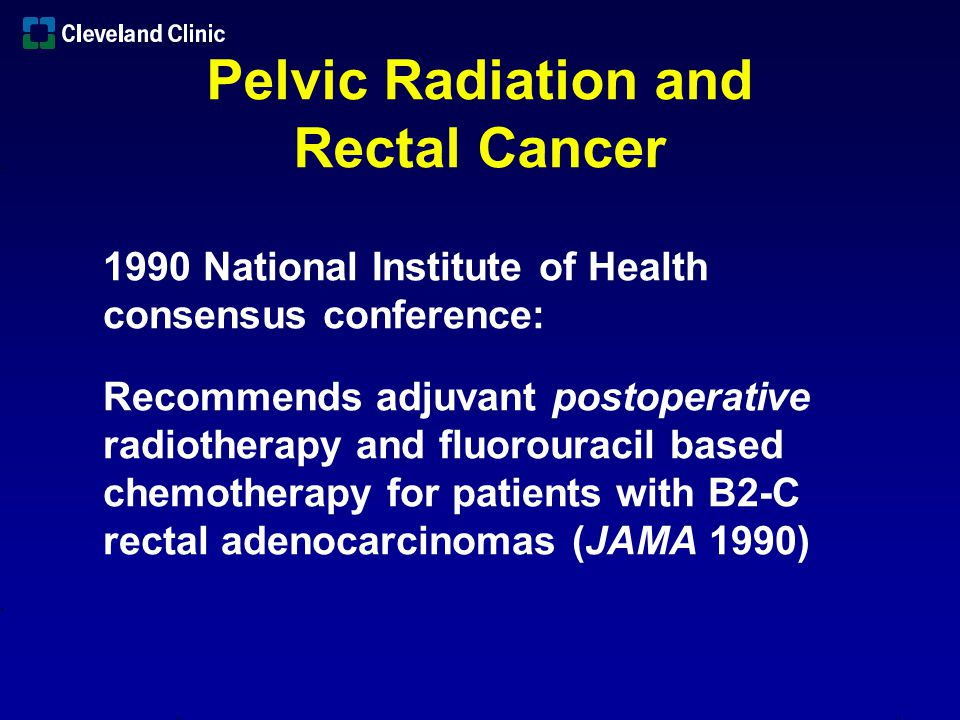 Pelvic Radiation and Rectal Cancer