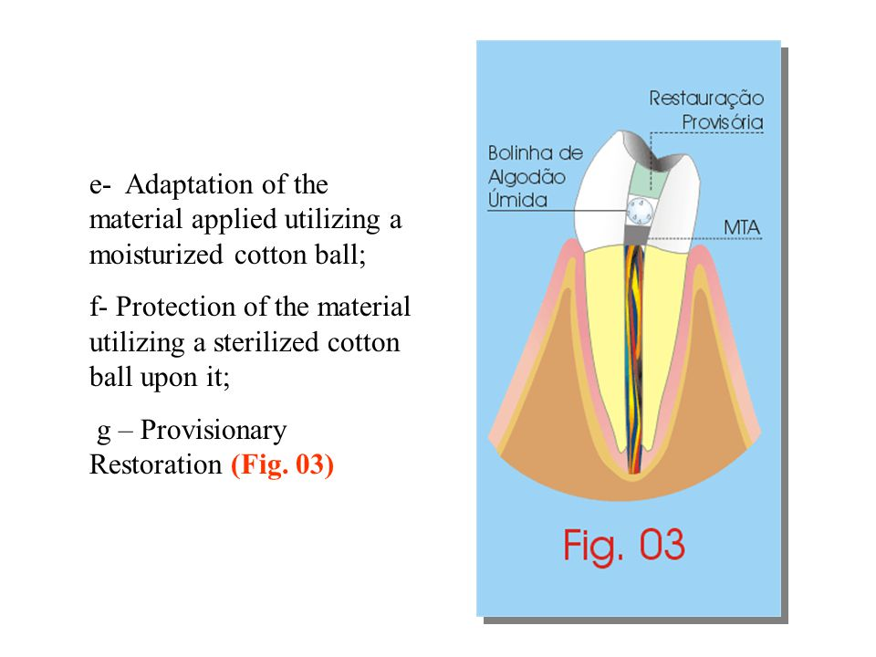 e- Adaptation of the material applied utilizing a moisturized cotton ball;