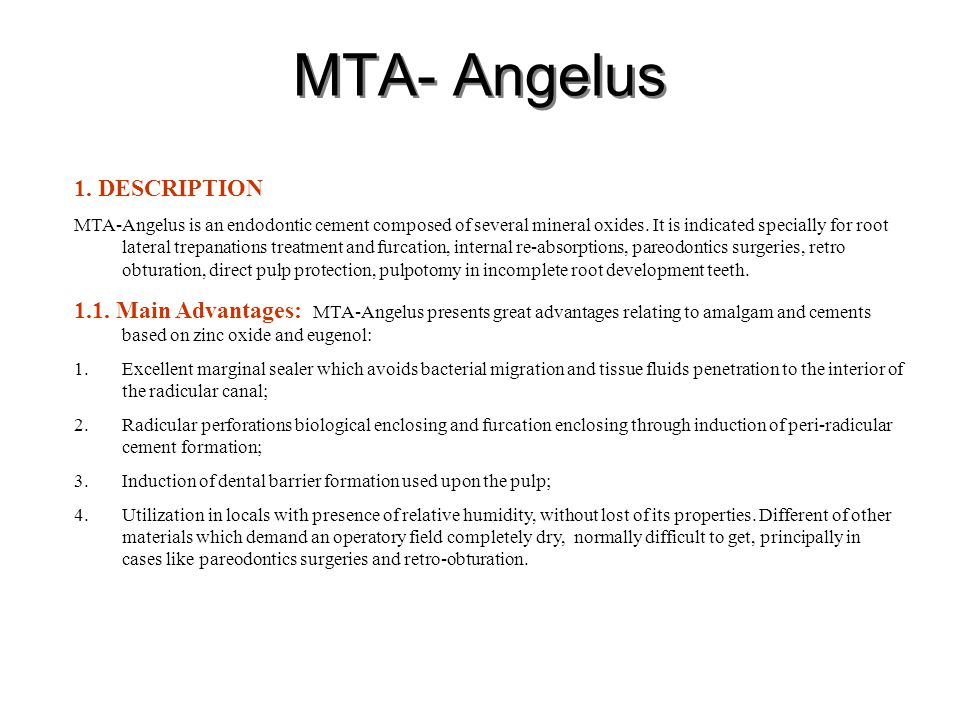 MTA- Angelus 1. DESCRIPTION