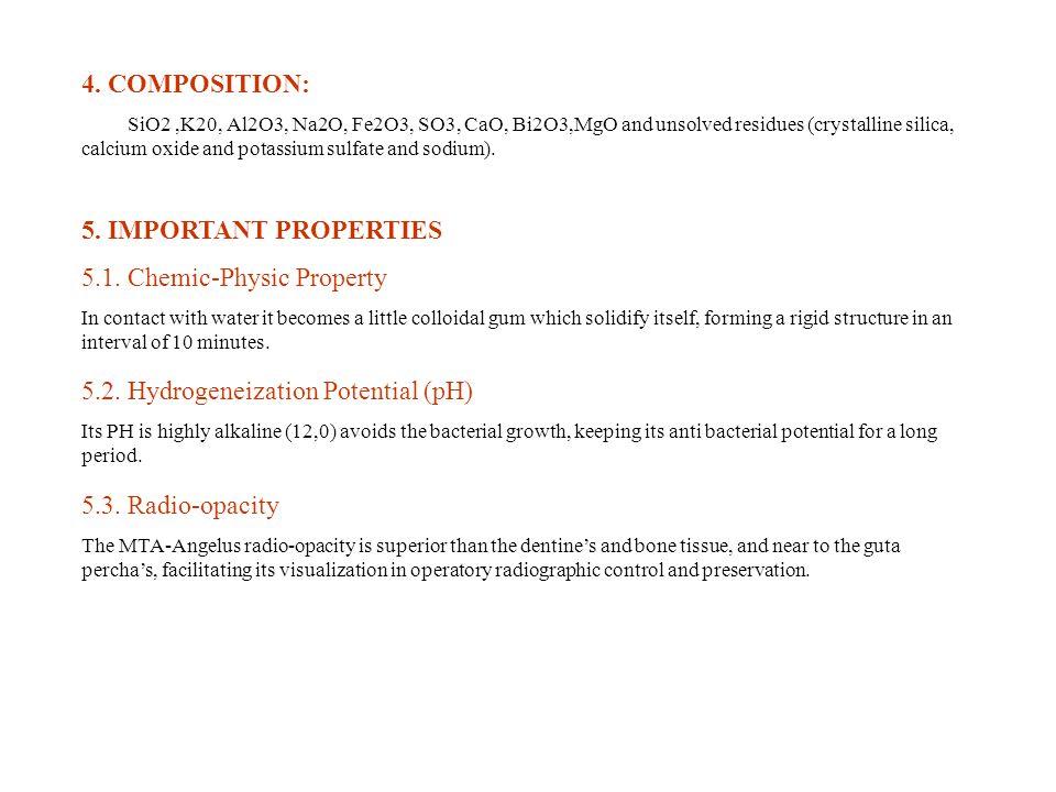 5.1. Chemic-Physic Property