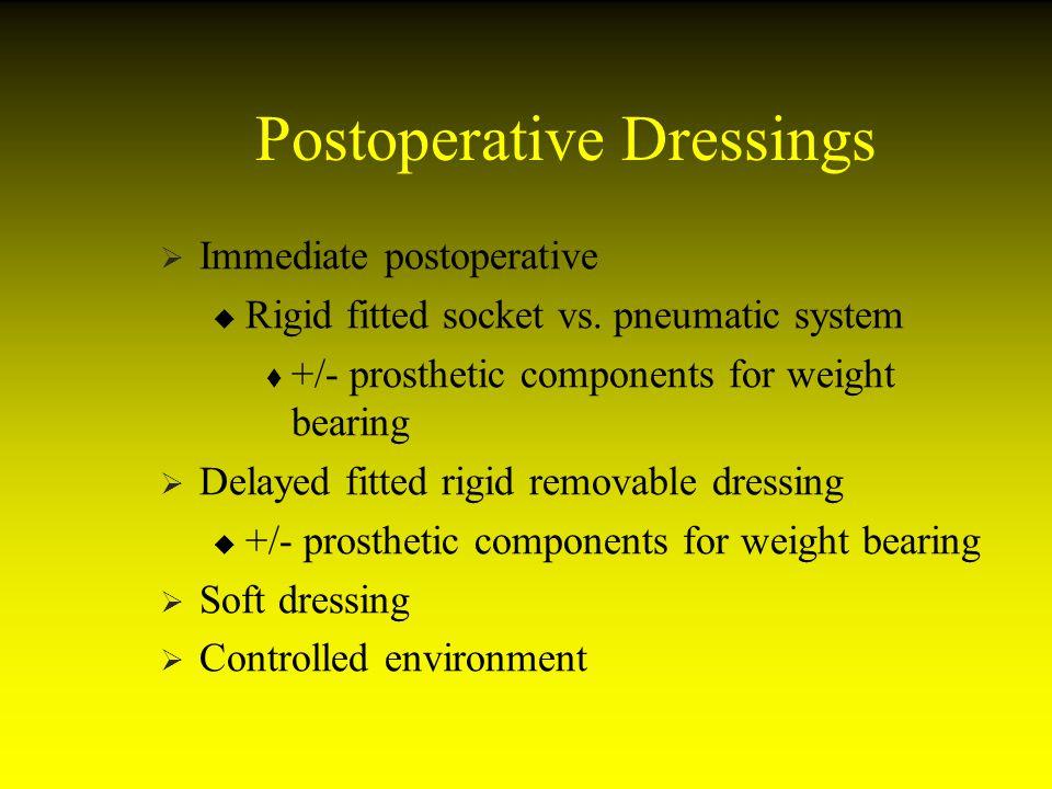 Postoperative Dressings