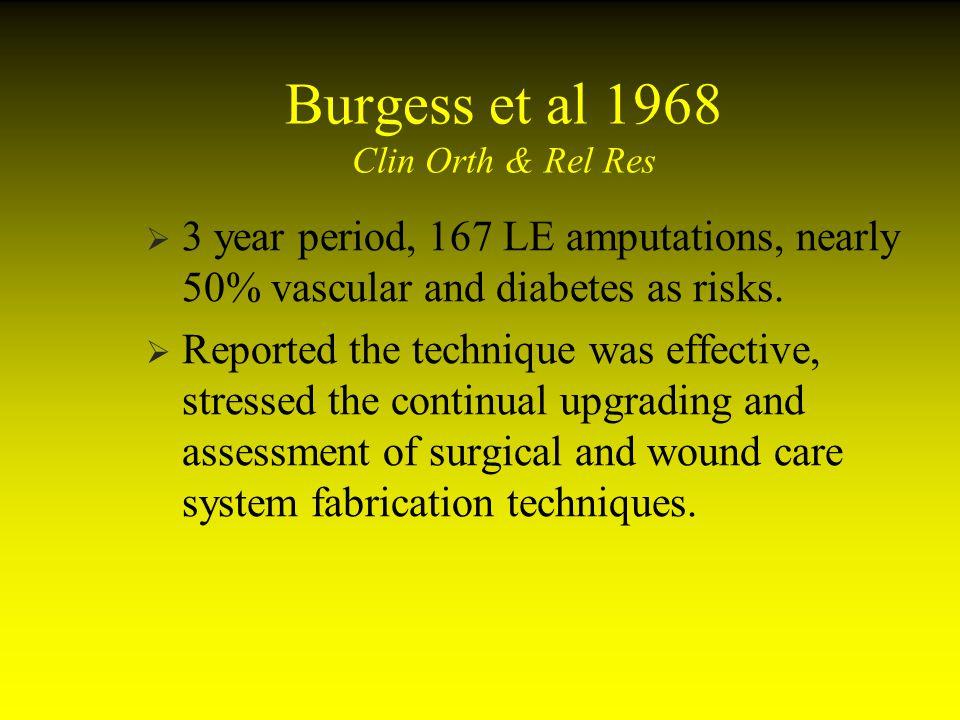 Burgess et al 1968 Clin Orth & Rel Res