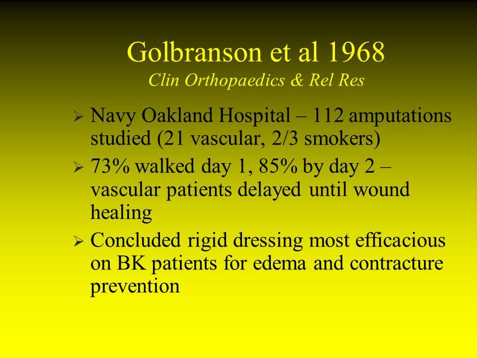 Golbranson et al 1968 Clin Orthopaedics & Rel Res