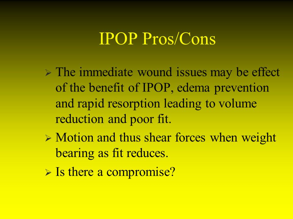 IPOP Pros/Cons