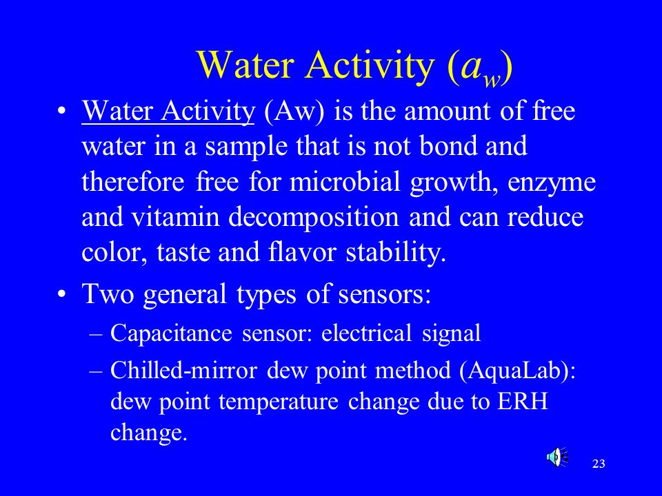 Water Activity (aw)