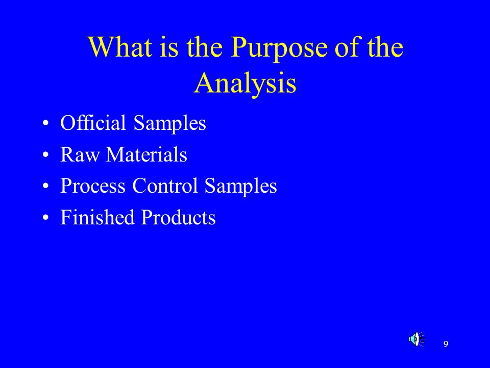 What is the Purpose of the Analysis
