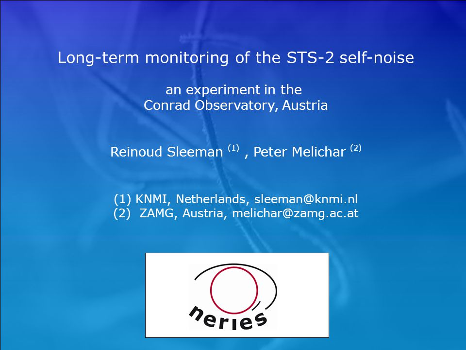 Long-term monitoring of the STS-2 self-noise