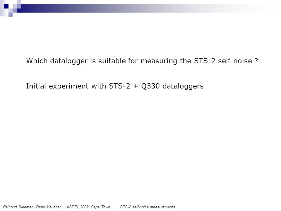 Which datalogger is suitable for measuring the STS-2 self-noise