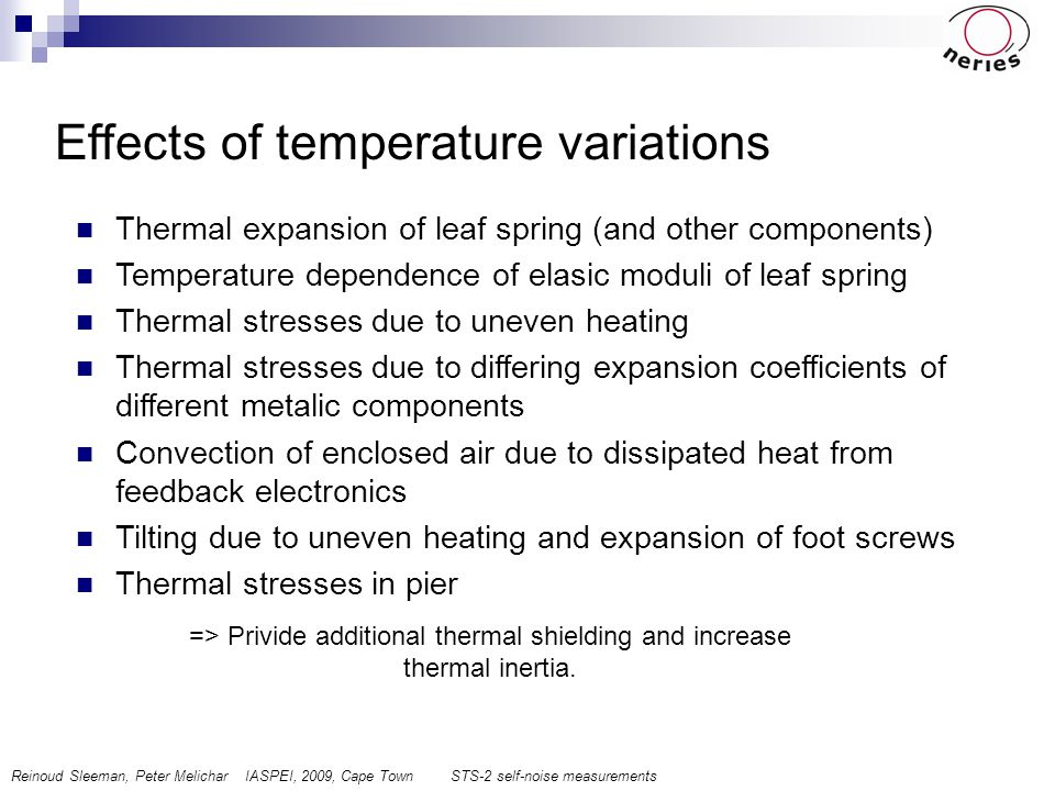 Effects of temperature variations