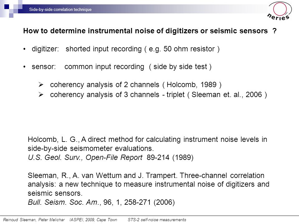 How to determine instrumental noise of digitizers or seismic sensors