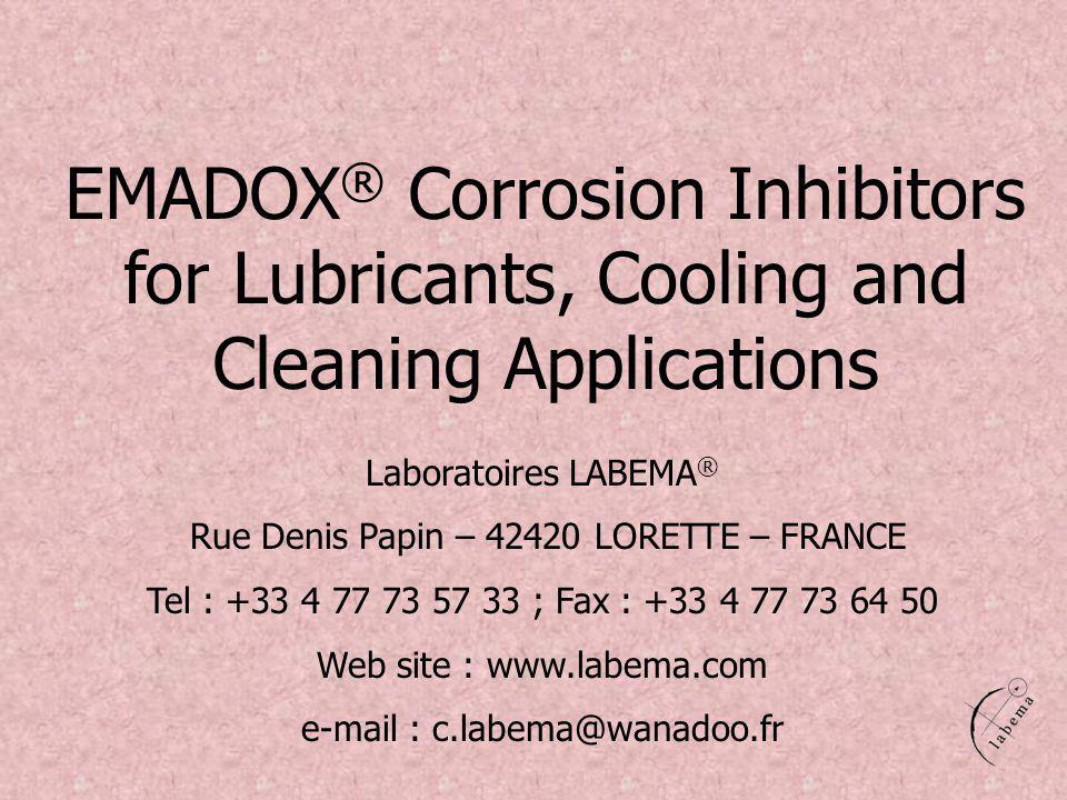 EMADOX® Corrosion Inhibitors for Lubricants, Cooling and Cleaning Applications
