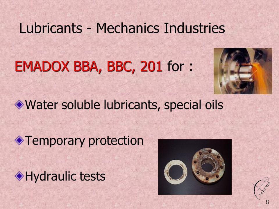 Lubricants - Mechanics Industries