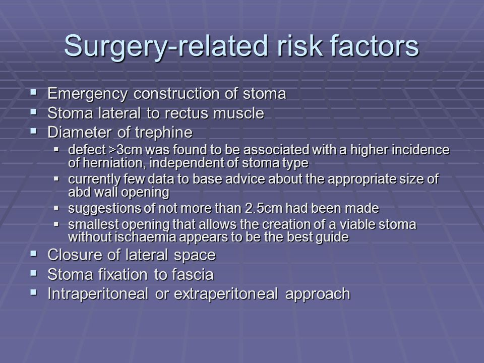 Surgery-related risk factors