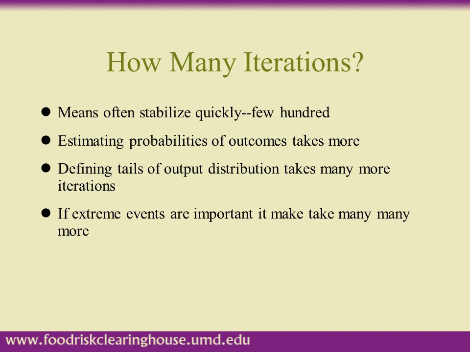 How Many Iterations Means often stabilize quickly--few hundred