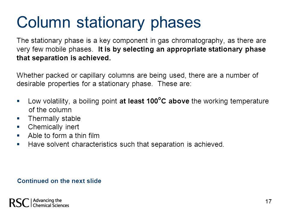 Column stationary phases